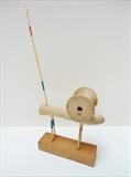 Unreel by Marc Heaton, Sculpture, Wood&Cotton reel