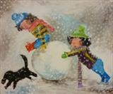 Watch Out Frosty! 2014 by Marc Heaton, Painting, Acrylic,ink,pencil,pen on wood