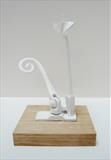 White Cat by Marc Heaton, Sculpture, Window latch&Drill bit