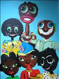 puppet43 by Marc Heaton, Painting, Acrylic on canvas